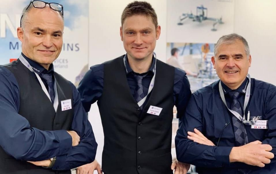 Paul Vögtli, Thomas Knöpfel and Philippe Kersimon at the fair stand
